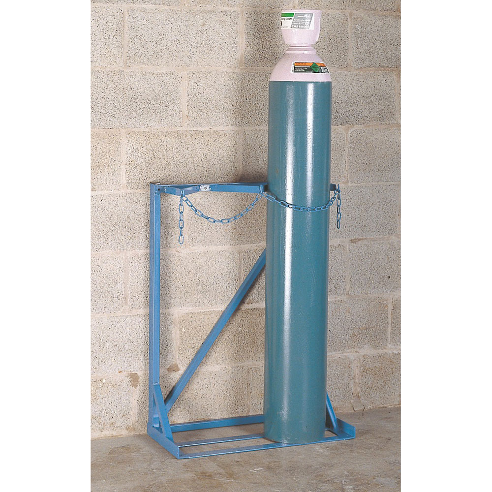 Single Sided Gas Cylinder Floor Stand - 2 Cylinders up to 270mm