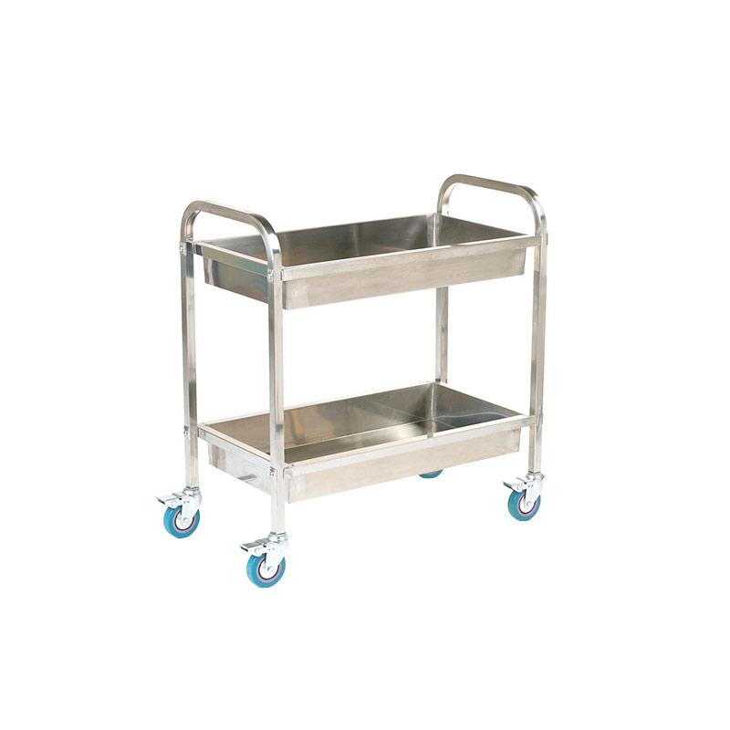 Stainless Steel Trolley - 2 Deep Shelves