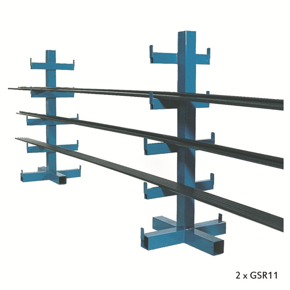 Heavy Duty Bar Storage Rack - Double Sided