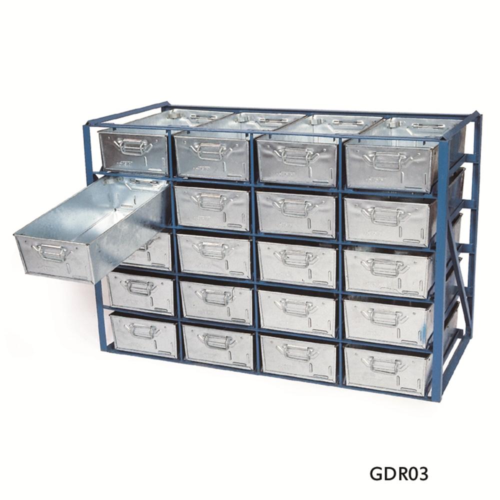 High Density Stacking Racks - hold 20 x Galvanised Tote Pans