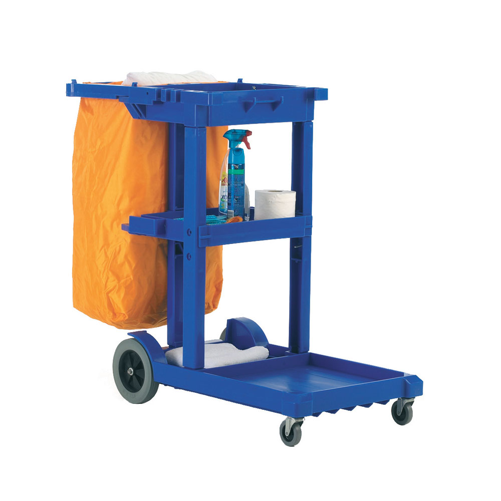 Janitorial Cleaning Trolley - Blue