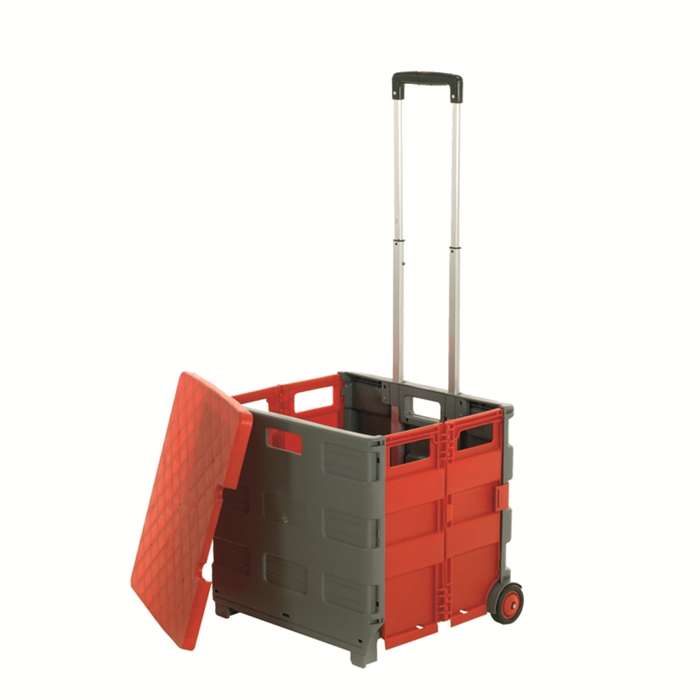 Folding Box Truck with Lid - Grey/Red