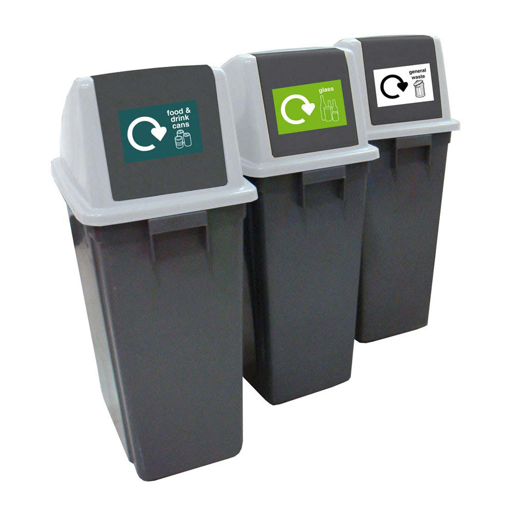 Recycling Bins - Set of 3 x 60 Litre