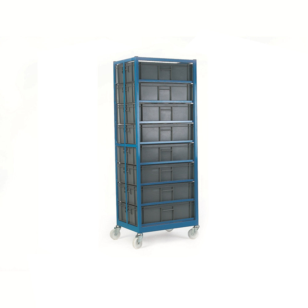 Mobile Container Rack c/w 5 Containers