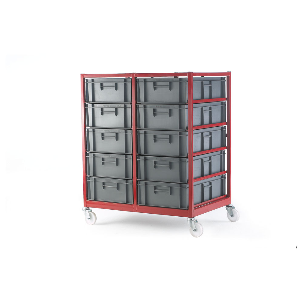 Mobile Container Rack c/w 10 Containers