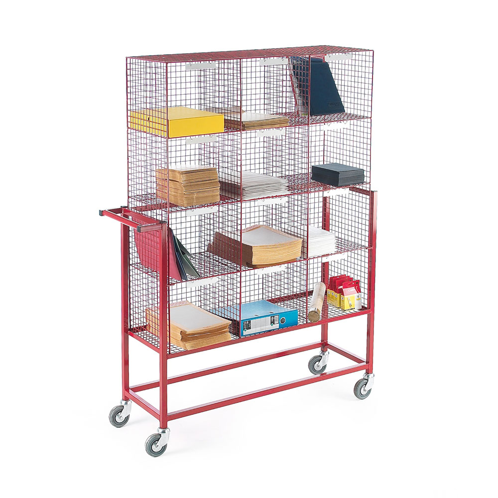 Post Sorter and Trolley - 12 Compartments