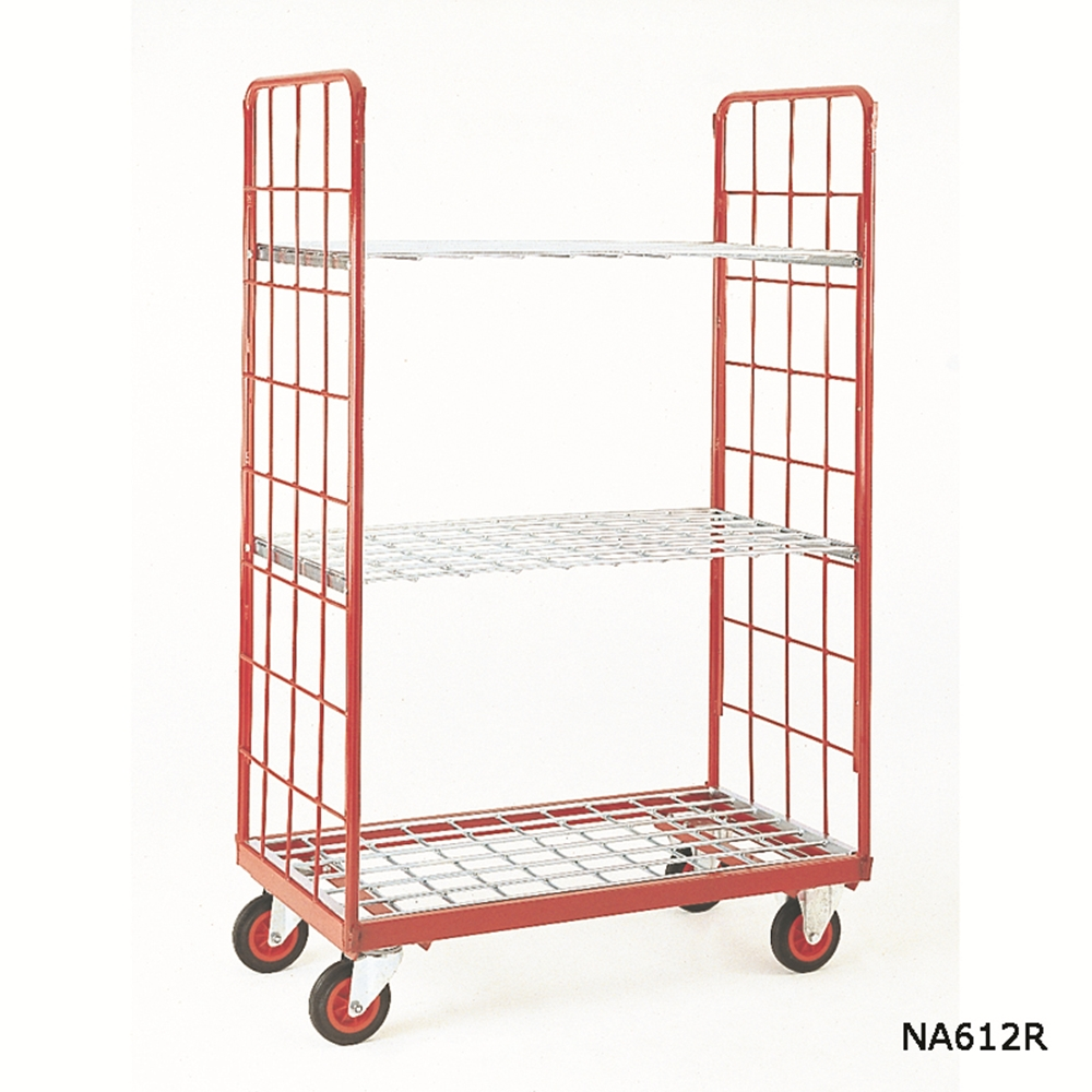 Zinc Plated Rod Shelf for Narrow Aisle Dist. Trucks