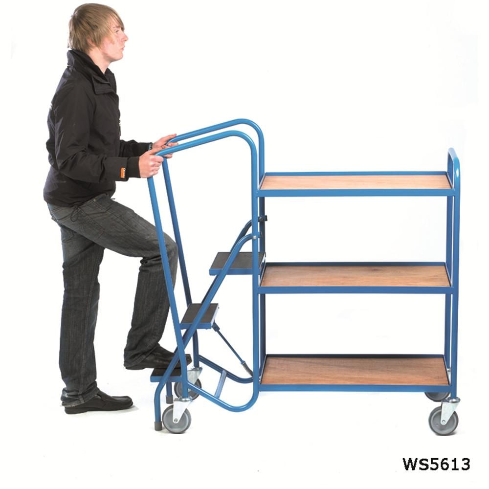 STD ORDER PICKING TROLLEY - 2 Plywood Trays