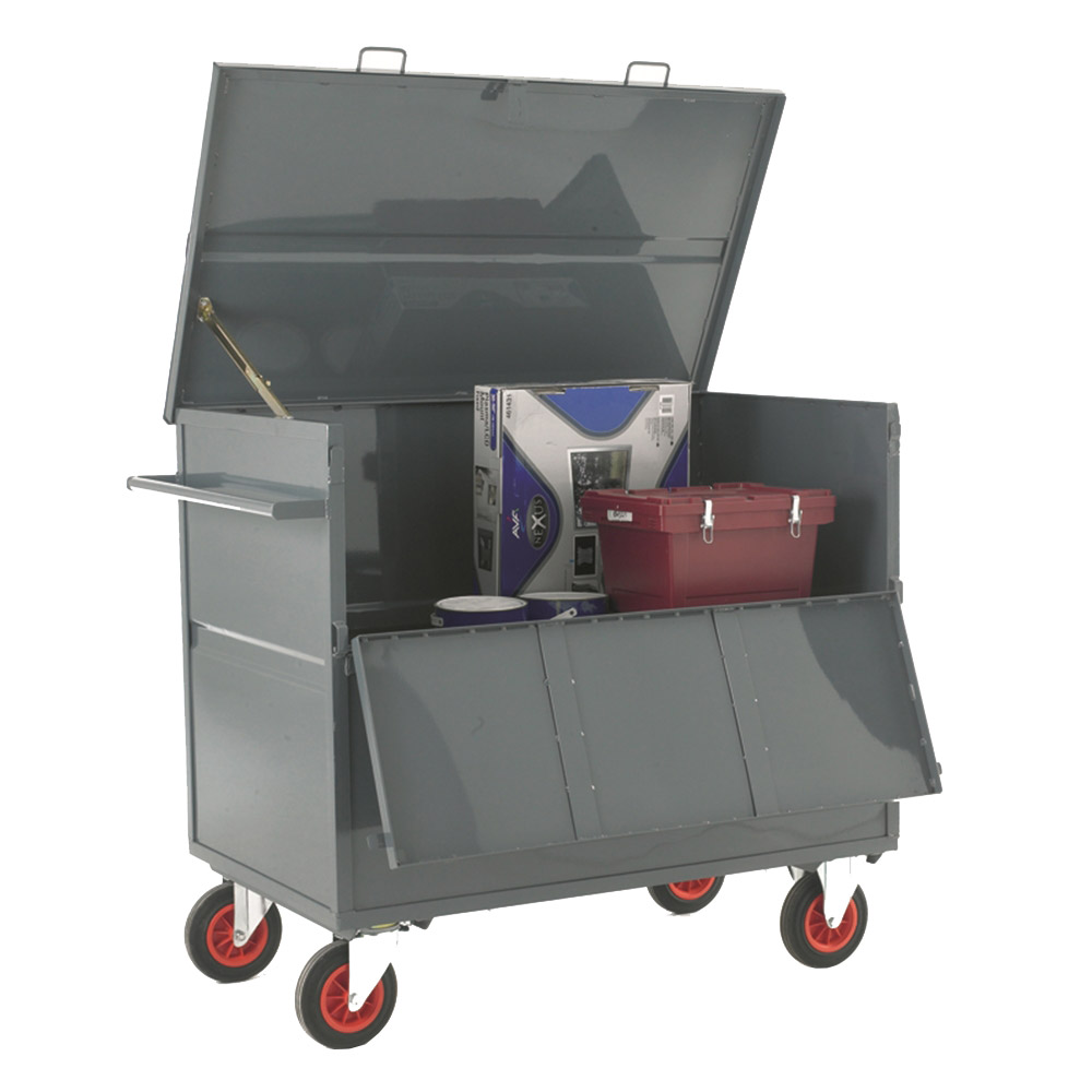 Security Box Trolley - Steel Sides and Deck