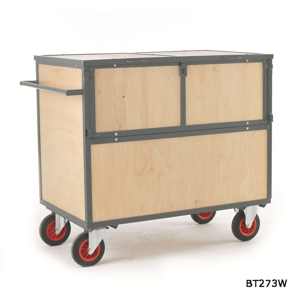 Security Box Trolley - Wooden Sides and Deck