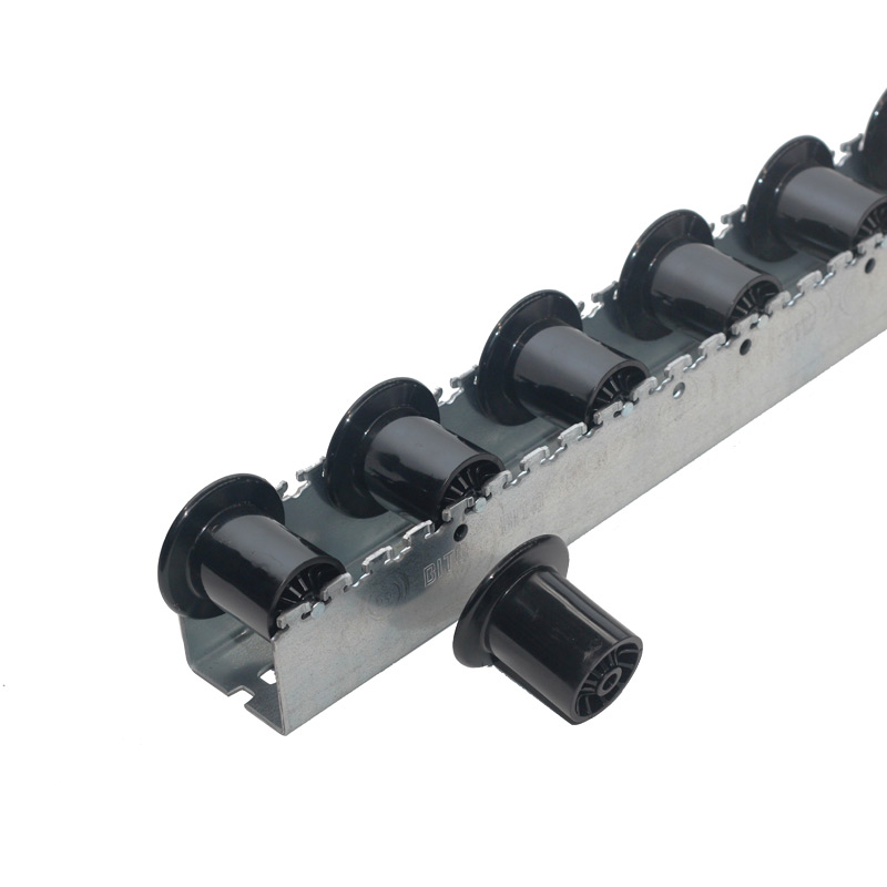 HD Roller Tracks - Flanged Plastic Rollers - 96mm Pitch