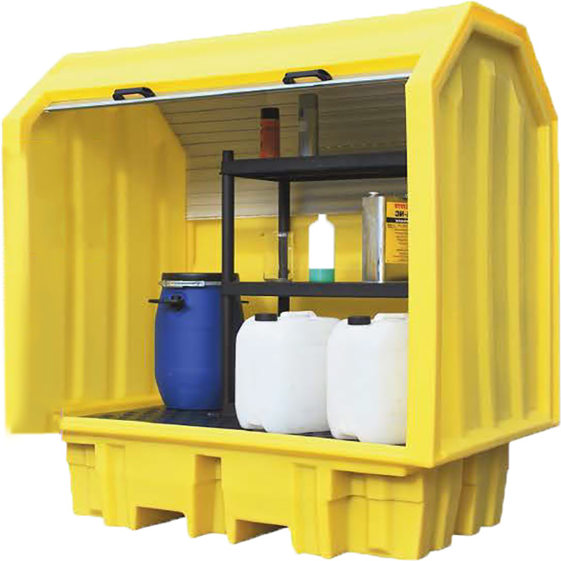 Polythene Vault with Shelving - for smaller containers