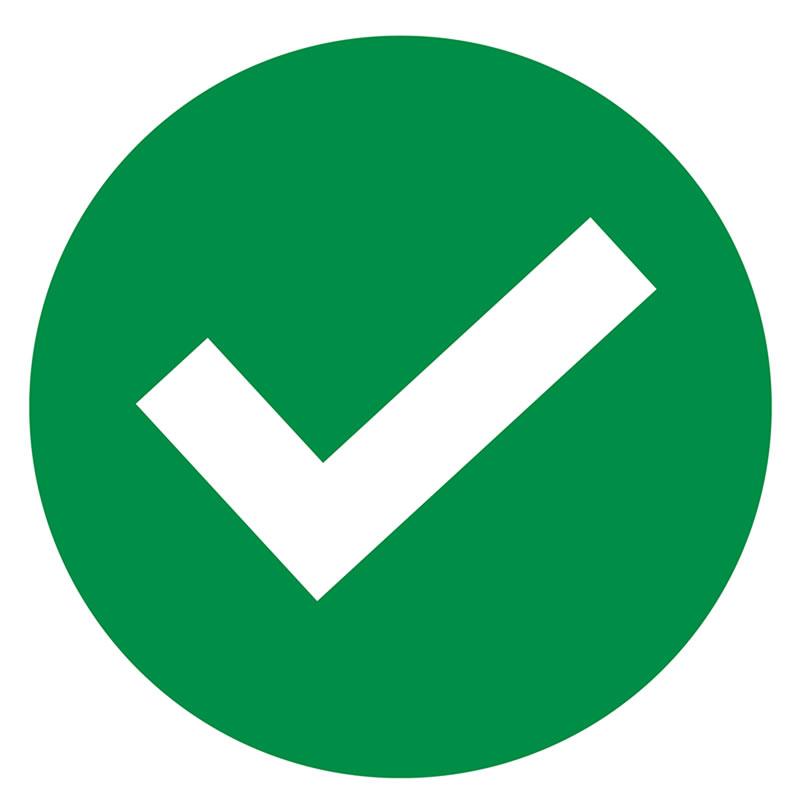 Social Distancing Seat Sticker - Green tick
