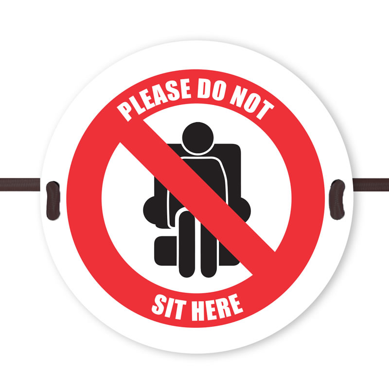 Seat Marker - Please do not sit here