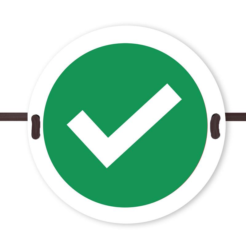 Seat Marker - Green Tick