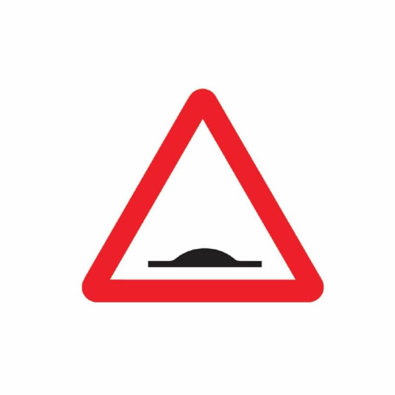 Warning Road Humps Ahead Sign - 450mm x 450mm
