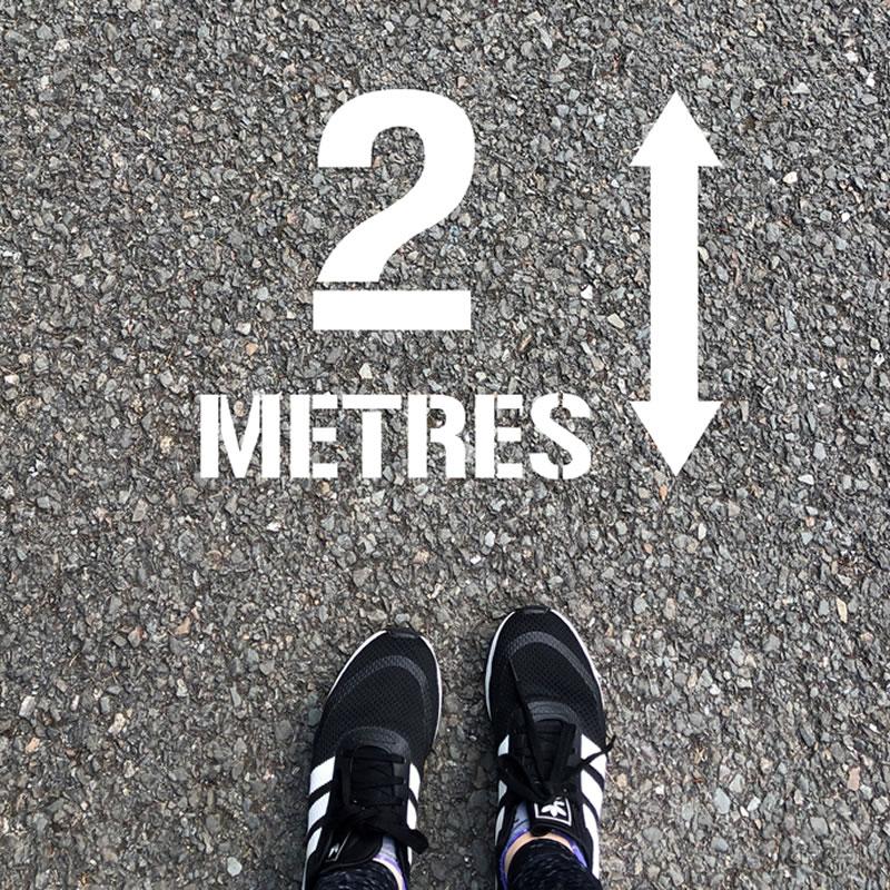 Stencil Kit - 2 metres Distance, graphic