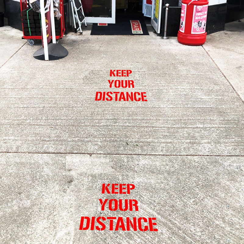 Stencil Kit - Keep Your Distance, text