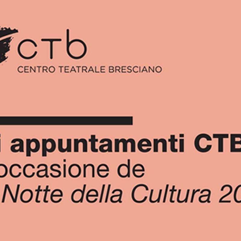 """Gli appuntamenti CTB in occasione de """"La notte della Cultura 2018"""""""