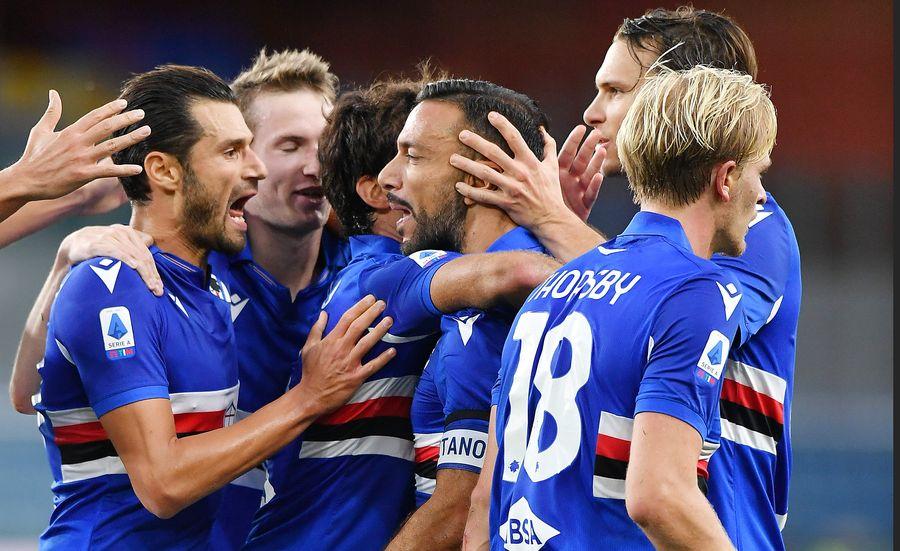 Потрясающий гол с дальней дистанции Оджелло — в обзоре матча Сампдория — Лацио (ВИДЕО)