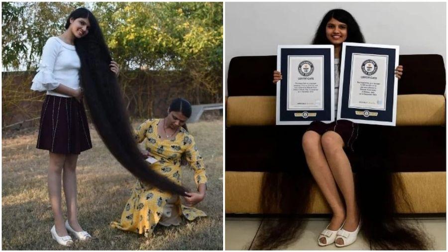 Юна дівчина з Індії не стриглася шість років і стала світовою рекордсменкою (ФОТО)