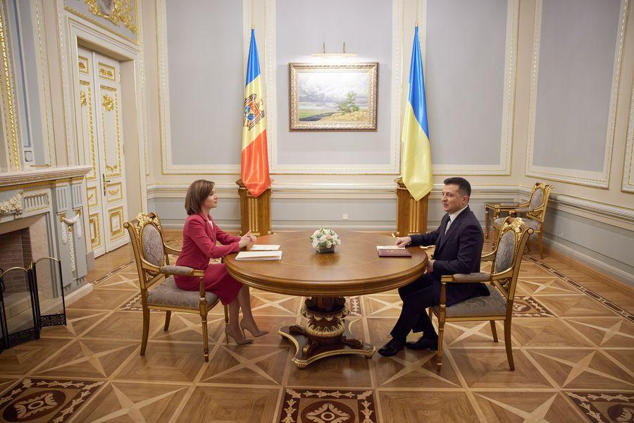 Володимир Зеленський прокоментував зустріч з президентом Молдови Майєю Санду