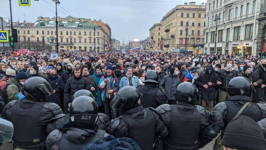 Під час протестів силовики зробили рекордну в історії Росії кількість затримань
