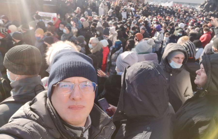 Російський мільйонер Дмитро Алексєєв вийшов на акції протестів на підтримку Олексія Навального (ФОТО)