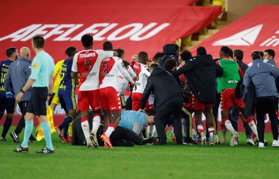 Монако — Ліон: наставники команд прокоментували масову бійку футболістів після матчу