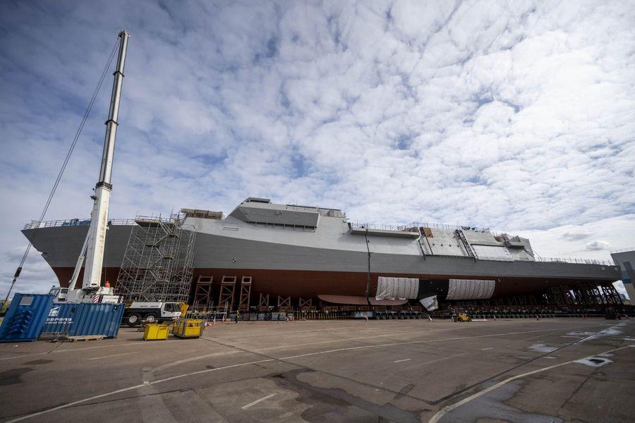 Британці зібрали корпус першого фрегата нового покоління