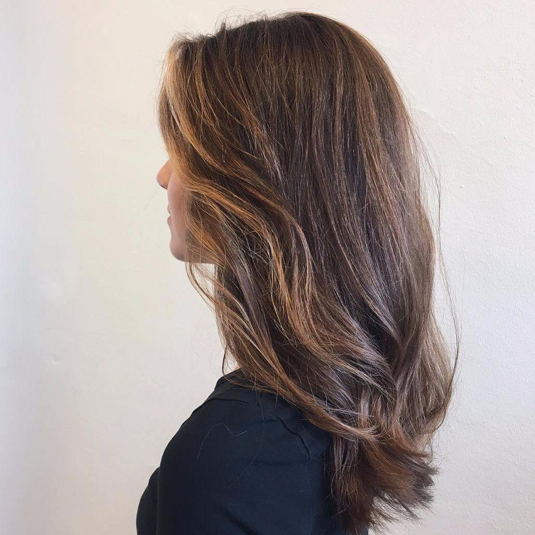 slingor långt hår