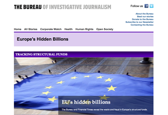 Figure 28. <em>EU Structural Funds Investigation</em> (Bureau of Investigative Journalism)