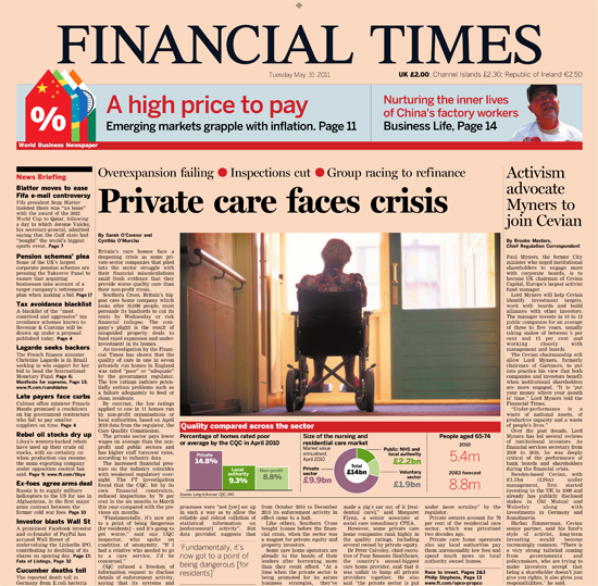 Figure 45. <em>Private care faces crises</em> (Financial Times)