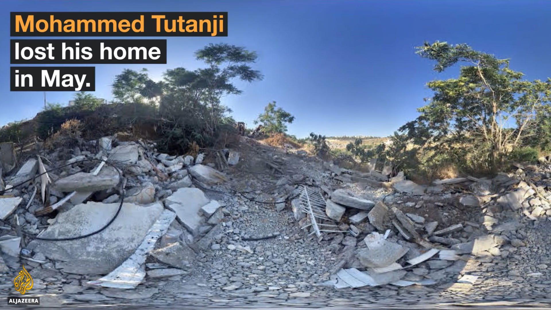 Figure 4.2. Panoramic photograph of home demolished in May 2016. Source: Al Jazeera.