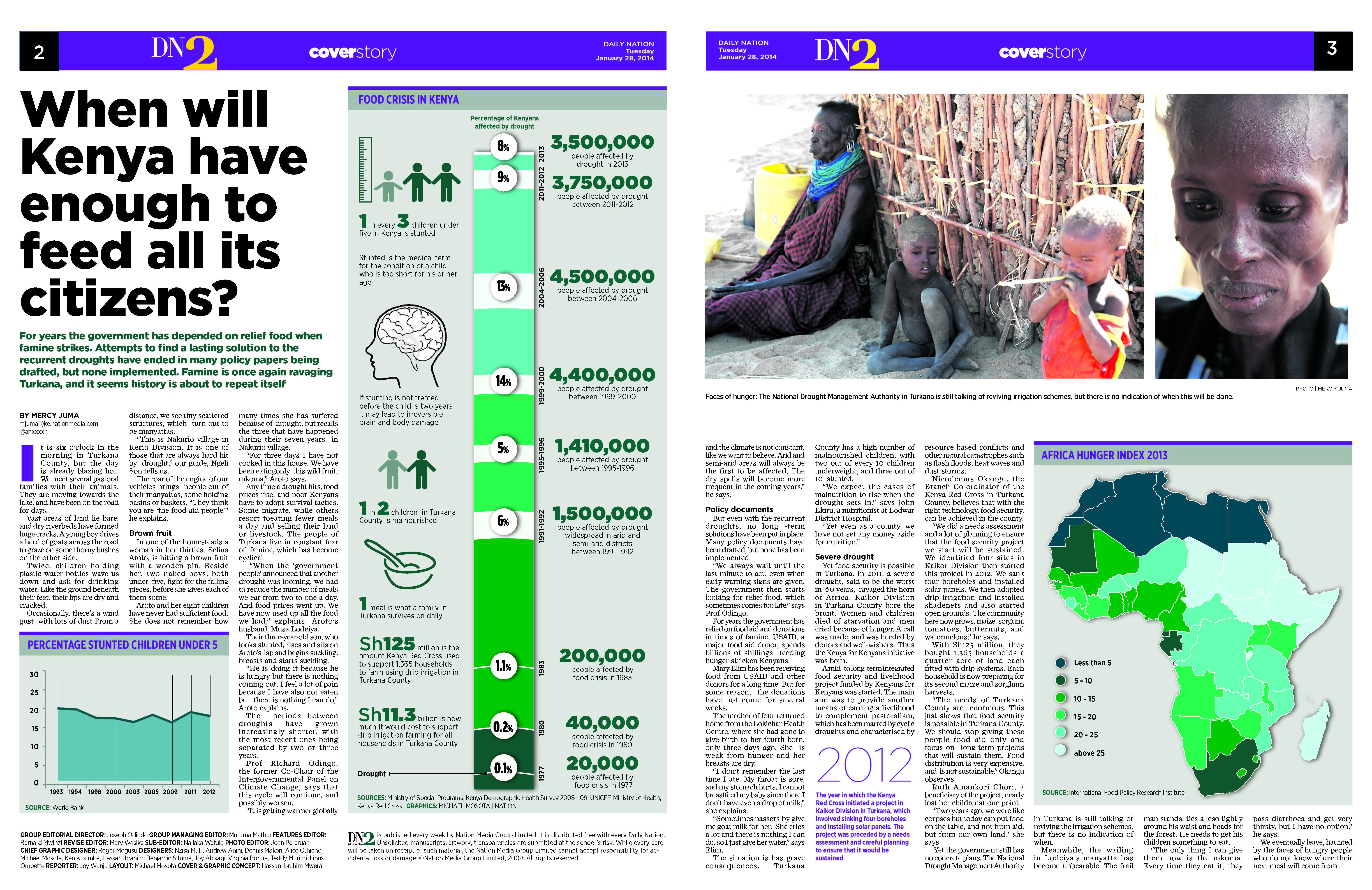 Figure 45.2. a print version of mercy Juma's television special on food security in Turkana. Source: Internews.