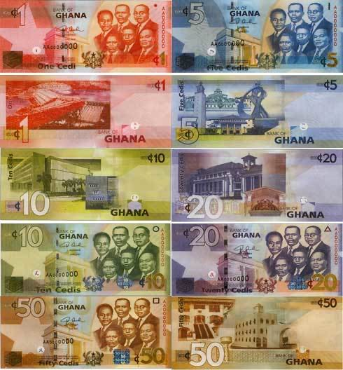 Ghana Cedi banknotes 1