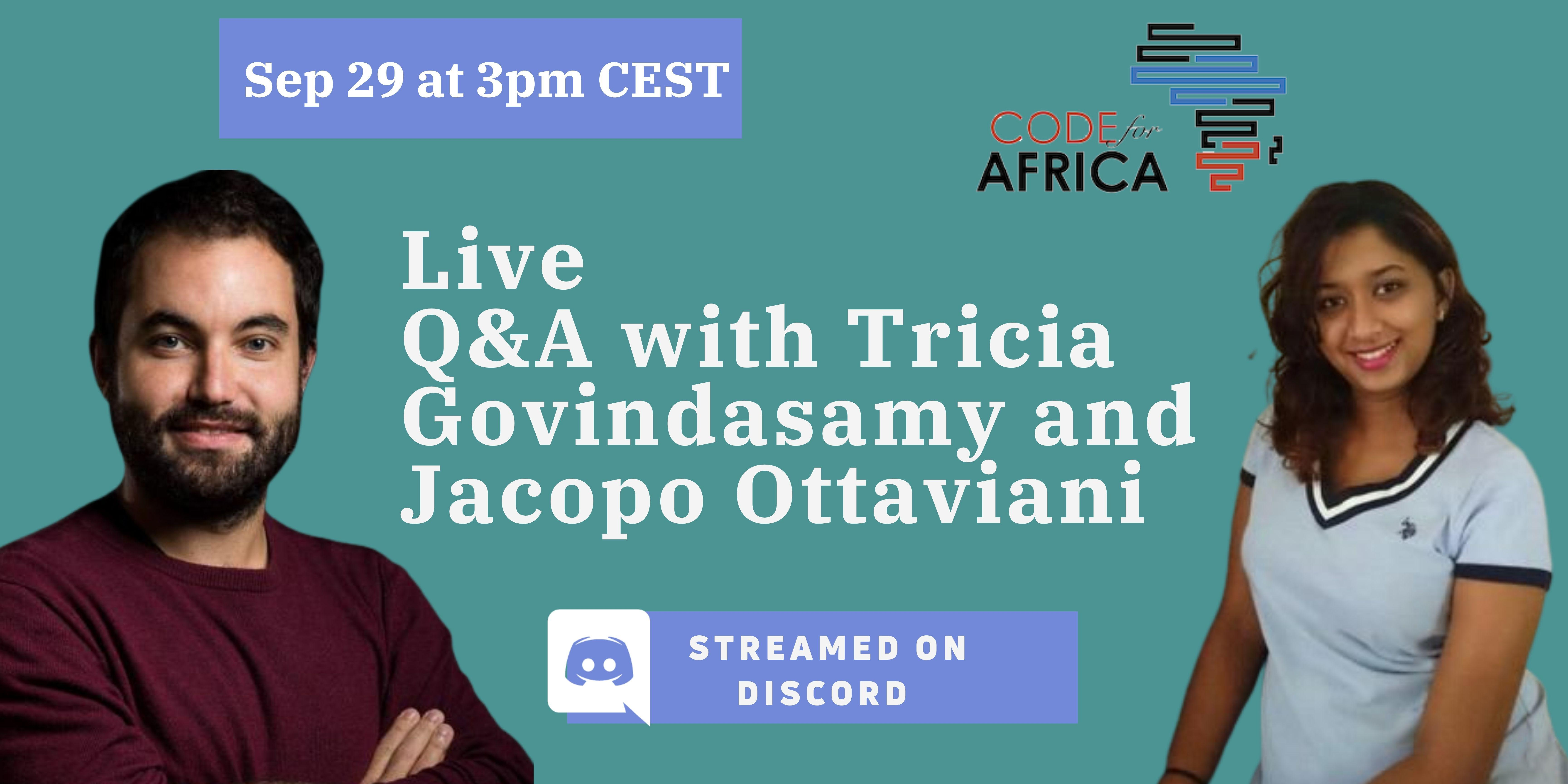 Jacopo and Tricia Discord event 1