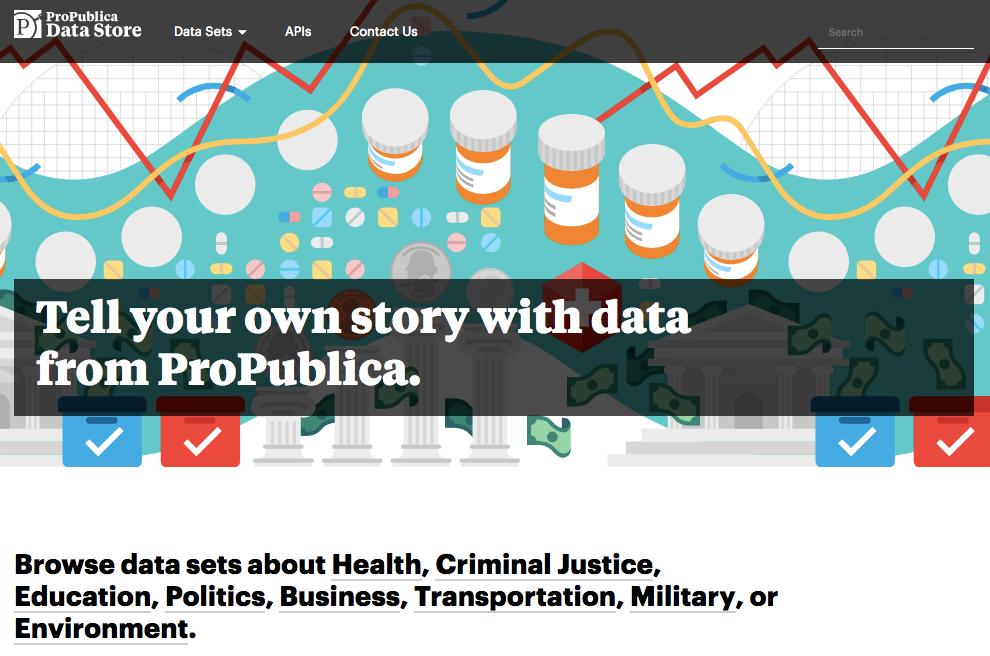 Pro Publica data store
