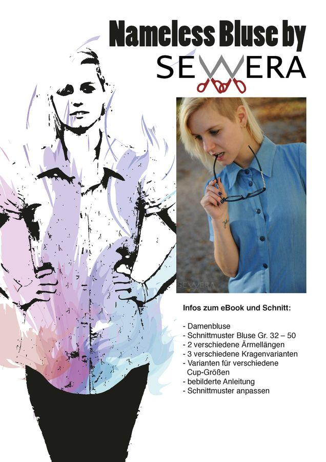 Schnittmuster Nameless Bluse von sewera
