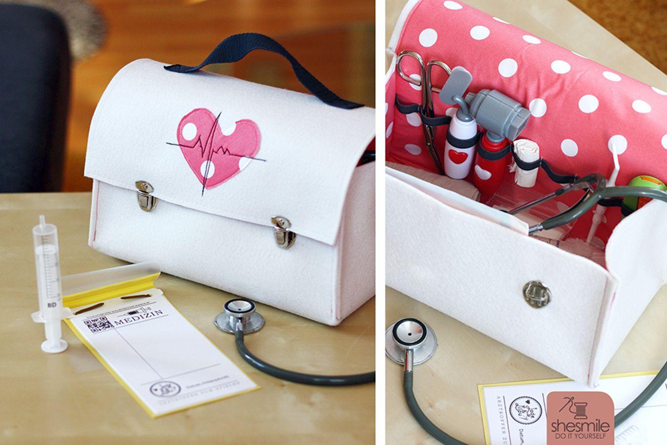 Produktfoto von shesmile für Schnittmuster Arztkoffer aus Filz zum Spielen