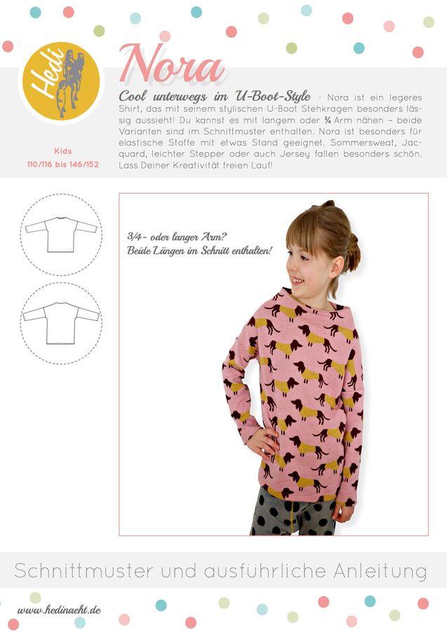 Produktfoto von Hedi für Schnittmuster Kragenshirt Nora