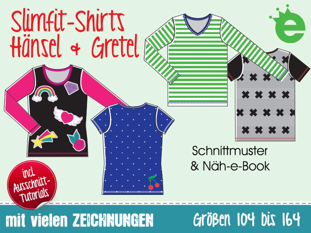 Produktfoto von Erbsenprinzessin für Schnittmuster Slimfit-Shirts Hänsel & Gretel