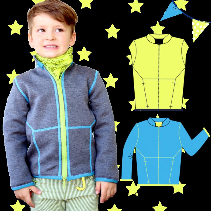 Produktfoto von Anni Nanni für Schnittmuster kleine Helden-Jacke