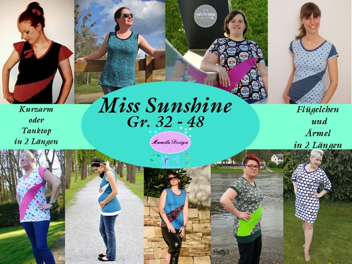 Produktfoto von Mamilu Design für Schnittmuster Shirt Miss Sunshine