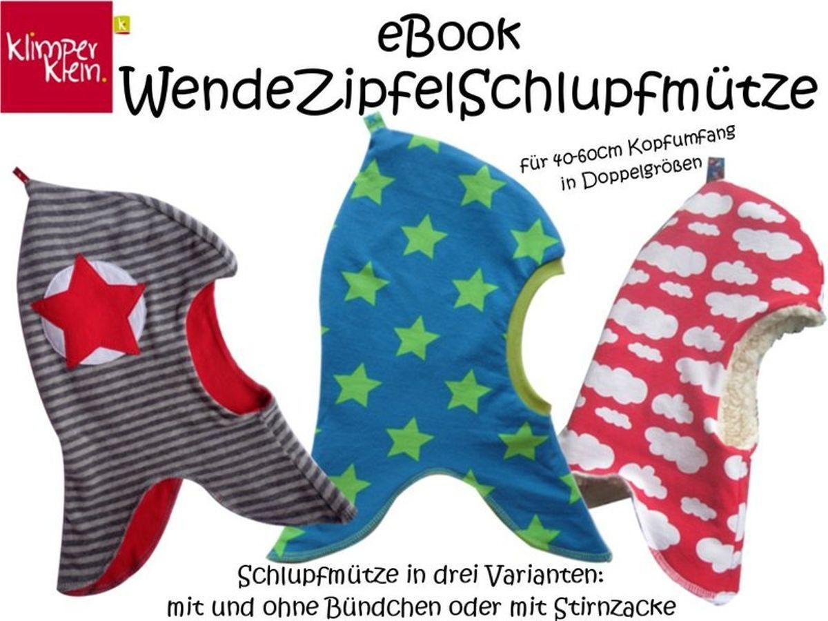 Produktfoto von klimperklein für Schnittmuster WendeZipfelSchlupfmütze