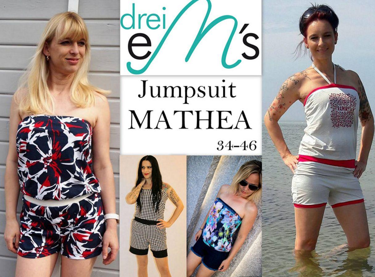 Produktfoto von drei eMs für Schnittmuster Jumpsuit Mathea