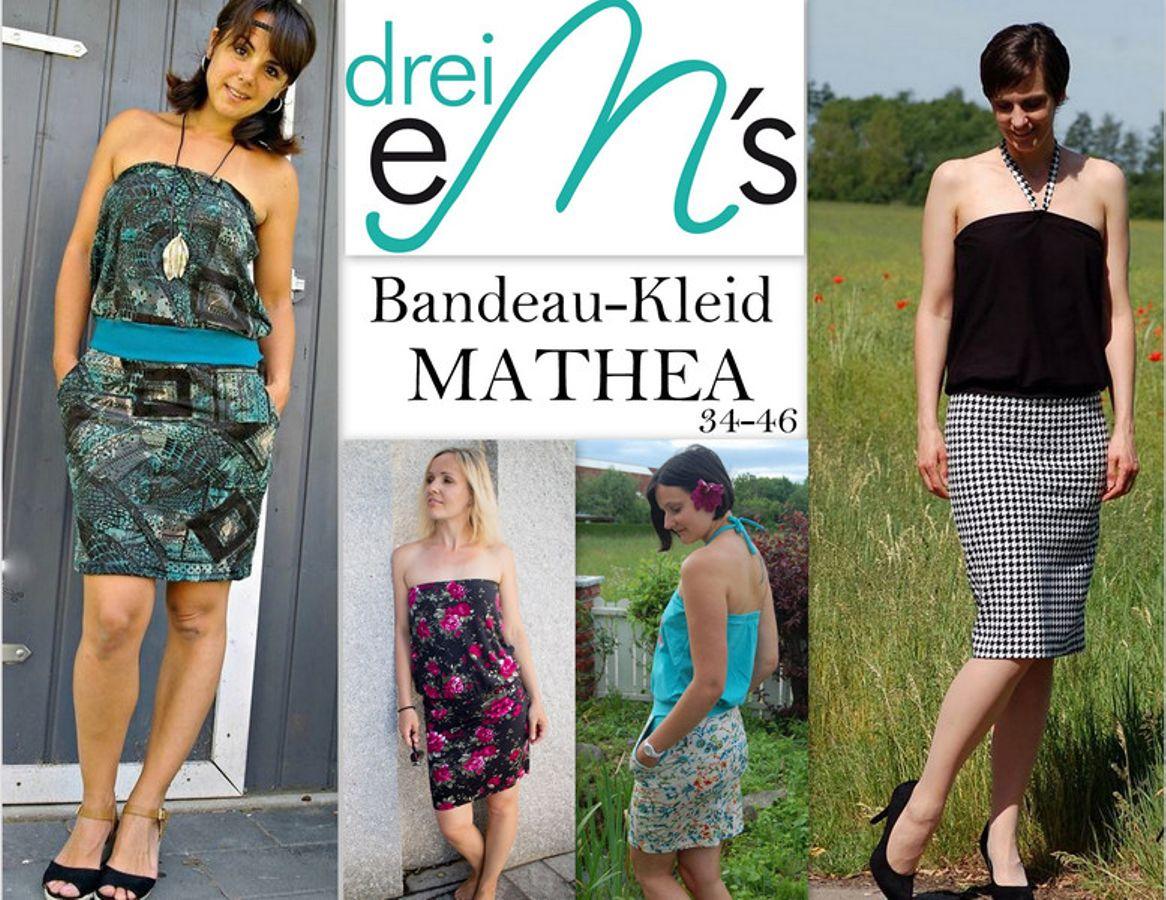 Produktfoto von drei eMs für Schnittmuster Bandeau-Kleid Mathea