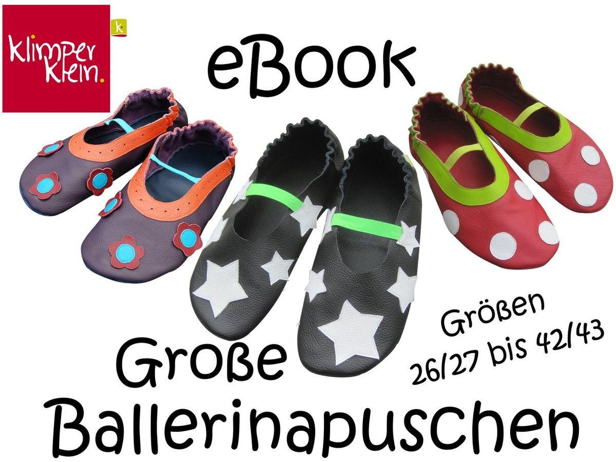 Produktfoto von klimperklein für Schnittmuster Große Ballerinapuschen