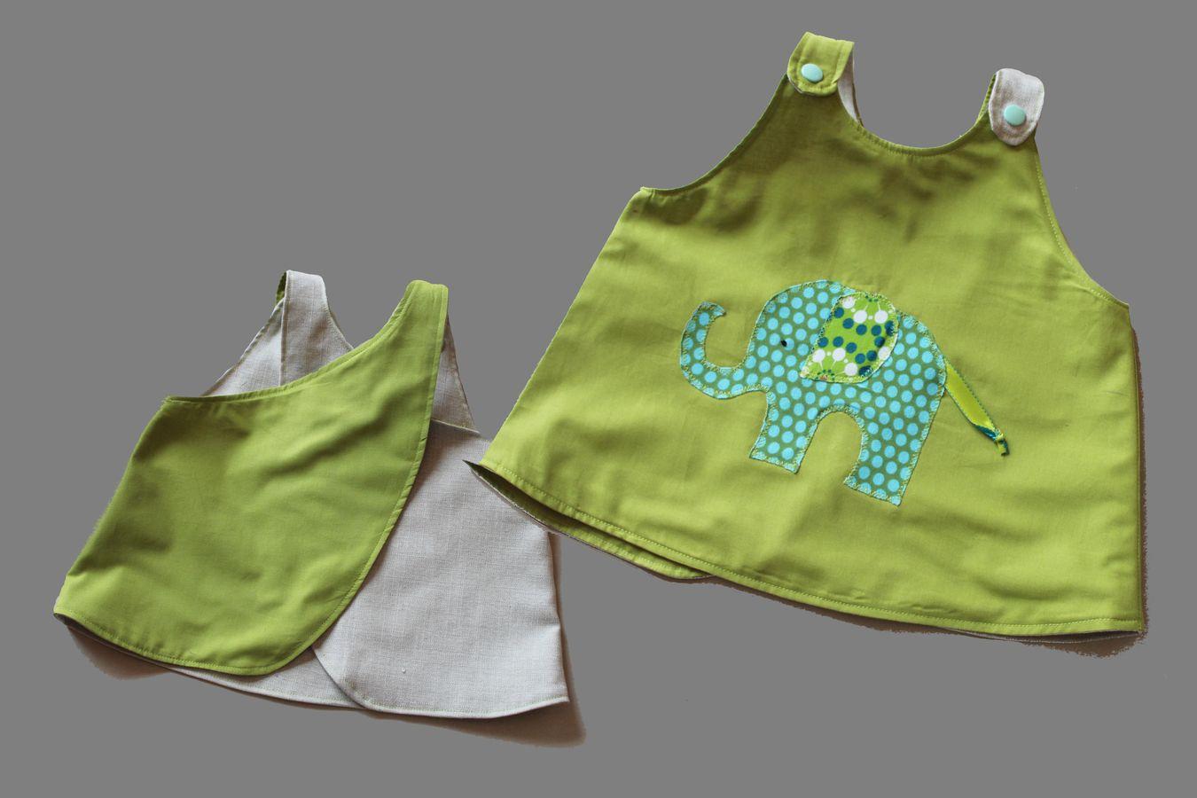 Produktfoto von Kleine Lotta Hohenberg für Schnittmuster Baby-Schürze Pippi