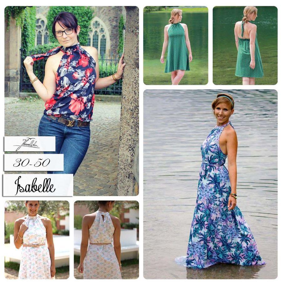 Produktfoto von Himmelblau. für Schnittmuster Isabelle